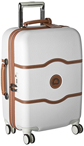 DELSEY Paris Chatelet Hard+ Hardside Luggage with Spinner Wheels, Champagne White, Carry-on 21 Inch