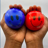 4pc Stress Ball Set for Adults That Promotes Grip Strength- Stress Ball for Kids Helping Them to Unload-Smiley Ball-Squishy Stress Ball- Great Stress Relief Ball - Stress Relief Toy - Stress Toy