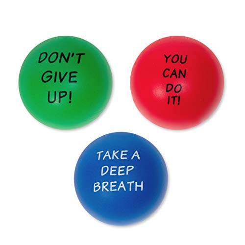 Elibia Set of 3 Motivational Stress Balls for Adults and Kids - Hand Exercise Balls Grip Strengthener Hand Therapy Ball - Squishy Stress Balls for Adults Anxiety Stress Relief Toys for Teens