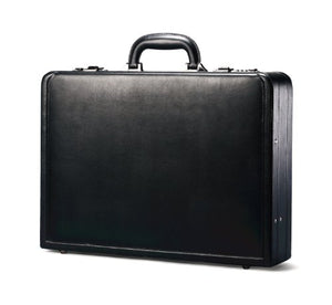 Samsonite Bonded Leather Attache, Black, One Size