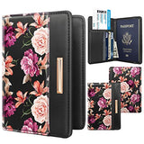 Passport Holder Cover RFID Blocking Cute Slim Travel Passport Wallet for Women,Black
