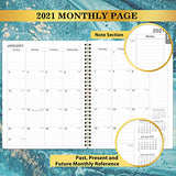 "2021 Weekly Appointment Book & Planner - 2021 Daily Hourly Planner with 30-Minute Interval, Jan 2021 - Dec 2021, 8"" x 10"", Twin-Wire Binding, Lay - Flat, Round Corner, Beautiful Waterproof Design"