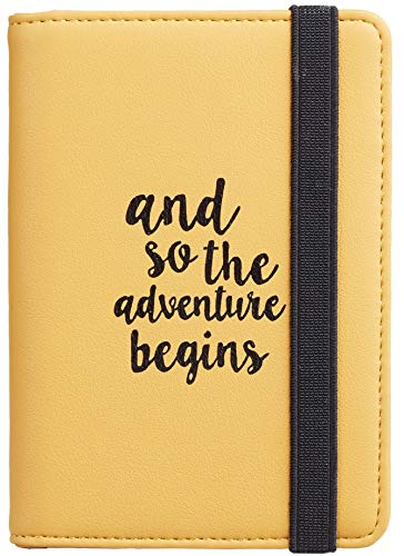 Casmonal Passport Holder Cover Wallet RFID Blocking Leather Card Case Travel Document Organizer (Napa Yellow)