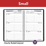 "2021 Weekly Appointment Book & Planner by AT-A-GLANCE, 4-7/8"" x 8"", Small, DayMinder, Black (G2000021)"