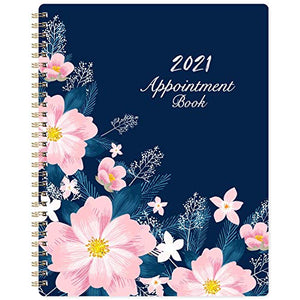 "2021 Weekly Appointment Book / Hourly Planner 2021 - Weekly Planner 2021, 8"" x 10"", Jan. 2021 - Dec. 2021, Hourly Interval, Twin-Wire Binding, Lay - Flat"