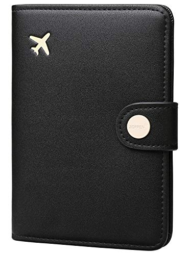 Zoppen Passport Holder Cover Wallet for Women Rfid Blocking Travel Wallet Id Card Case (#1 Black)