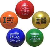 Motivational Stress Balls for Kids and Adults (5 pack). Motivate and Inspire While Releasing Stress