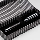 ZenZoi Carbon Fiber Fountain Pen Set - German Fine Nib Jet Pen - Includes Ink Converter, 2x Ink Refill Cartridges & Pen Gift Box - Elegant Pen for Men or Women.  Business, Anniversary Gift