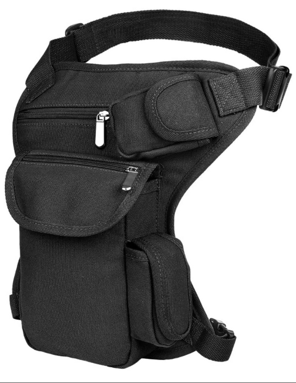 Leg Bag Canvas Full Size-Black