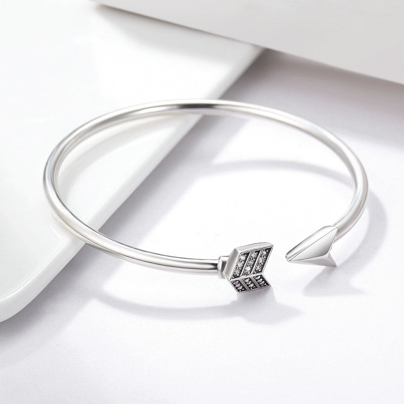 no bracelet silver women bkmqyuw arrow cuff stone