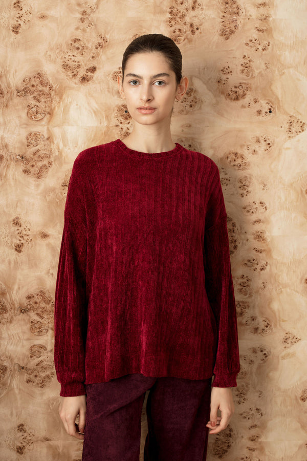 FW square velvet rib top