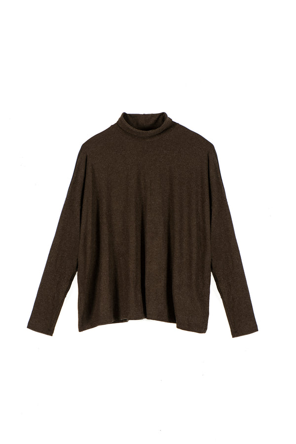 FW square turtleneck top