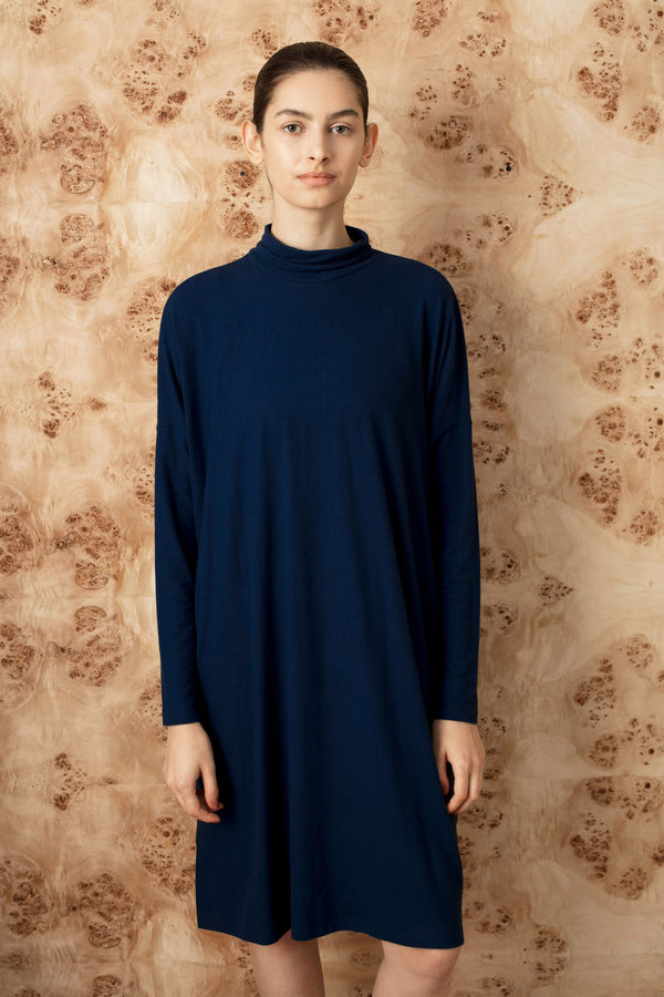 FW square turtleneck dress