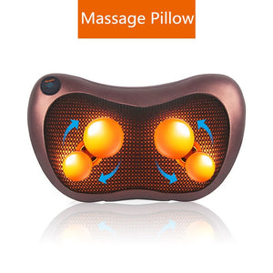 Massage Device Neck Relaxation Pillow Massage Vibrator Electric Shoulder Back Massager Car.shiatsu Massage Pillow With Heating - quiescentmind.com
