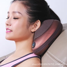 Load image into Gallery viewer, Massage Device Neck Relaxation Pillow Massage Vibrator Electric Shoulder Back Massager Car.shiatsu Massage Pillow With Heating - quiescentmind.com