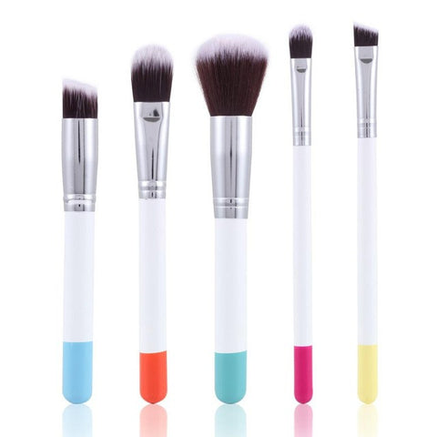 5PCS Make Up Foundation Eyebrow Eyeliner Blush Cosmetic Concealer Brushes
