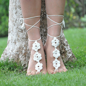 Women Girls Anklet Crochet Ankle Bracelet Sandals Anklet Foot Chain Ladies Gift 11# - quiescentmind.com