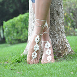 Women Girls Anklet Crochet Ankle Bracelet Sandals Anklet Foot Chain Ladies Gift 11#
