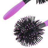 Generic Hot Curling Style Brush Hair Style Blow Drying Detangling Salon Heat Resistant Massage Comb 3D Round Hair Comb