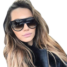 Load image into Gallery viewer, Fashion  Unisex Vintage Shaded Lens Thin Glasses Fashion Aviator Sunglasses - quiescentmind.com