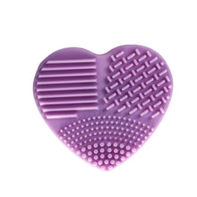 Load image into Gallery viewer, Silicone Heart Shape Makeup Brush Cleaner Cosmetic Cleaning Tool Washing Brush - quiescentmind.com