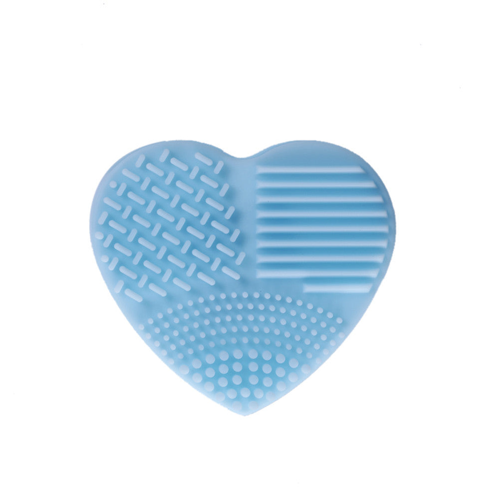 Silicone Heart Shape Makeup Brush Cleaner Cosmetic Cleaning Tool Washing Brush - quiescentmind.com