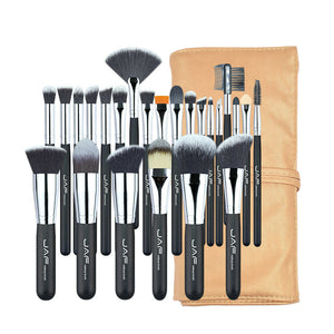 JAF 24pcs Professional Makeup Brushes Set High Quality Make Up Brushes Full Function Studio Synthetic Make-up Tool Kit J2404YC-B - quiescentmind.com