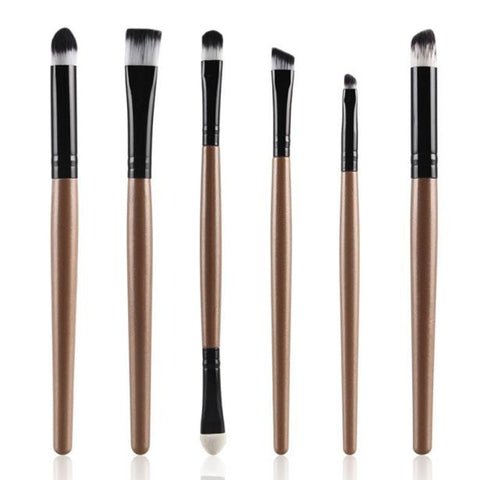 6PCS Cosmetic Makeup Brush Lip Makeup Brush Eyeshadow Brush