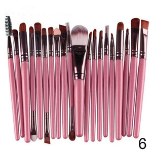 20 pcs Makeup Brushes Set Foundation Eyeshadow Eyeliner Lip Cosmetic Brush - quiescentmind.com