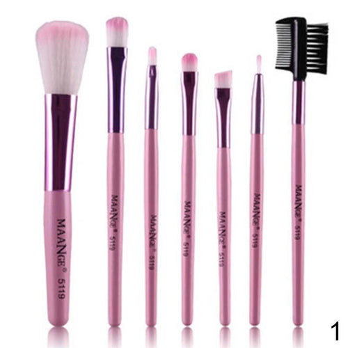 7pcs Portable Makeup Brush Set Eye Shadow Powder Make Up Tools - quiescentmind.com
