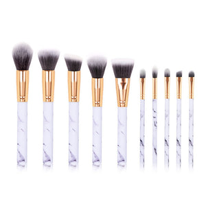 Make Up Brush Set with Handle Powder Makeup Brush Foundation Brush 10PCS - quiescentmind.com