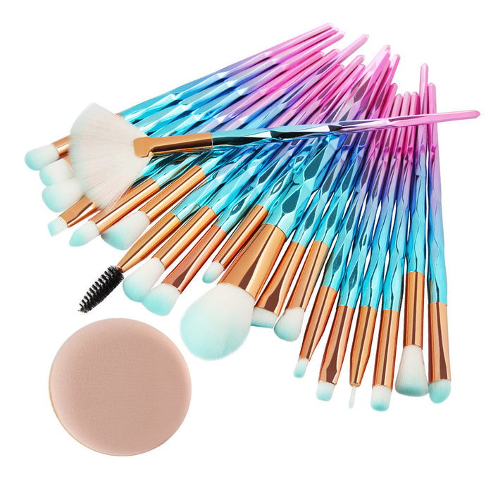 Diamond Makeup Brush Kit - 20 Piece Set - quiescentmind.com