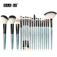 Load image into Gallery viewer, Shiny Makeup Brush Set tools Make-up Toiletry Kit Glitter Brushes Set 18Pcs - quiescentmind.com