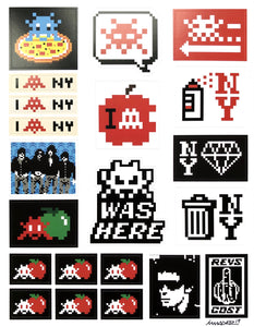 Space Invader - Stickers Signed - Edition of 200