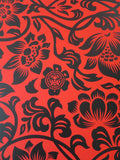 SHEPARD FAIREY AKA OBEY - Floral Takeover 2017 (RedBlack)
