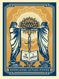 SHEPARD FAIREY AKA OBEY - Knowledge + Action (BlueGold)