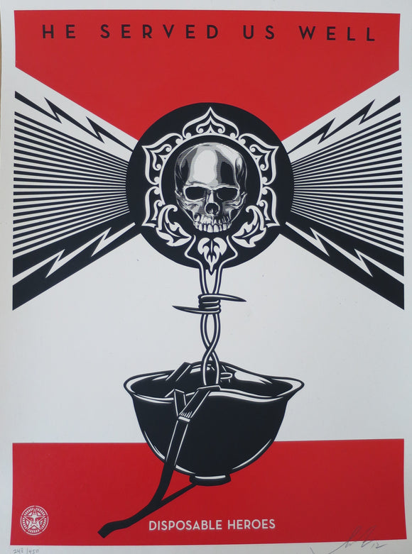 SHEPARD FAIREY AKA OBEY - Disposable Heroes
