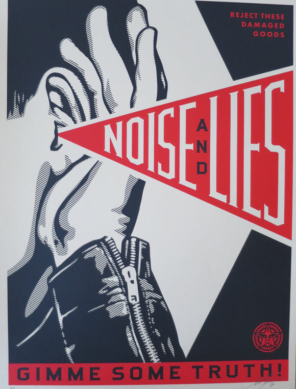 SHEPARD FAIREY AKA OBEY - Noise and Lies (Black Edition)
