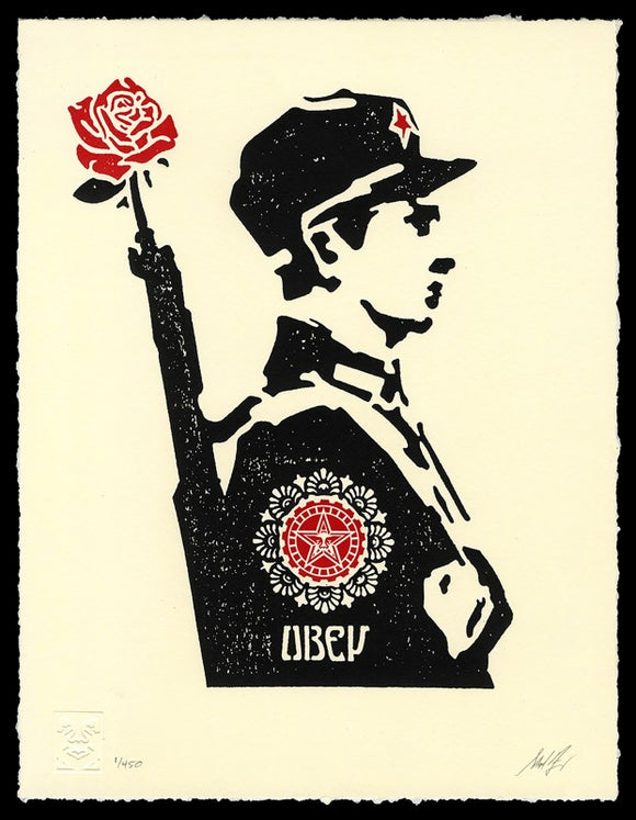 SHEPARD FAIREY AKA OBEY - Rose Soldiers
