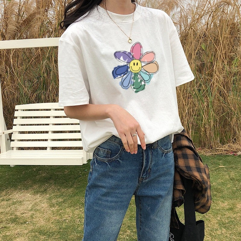Sunflower Printed Loose Style Shirt