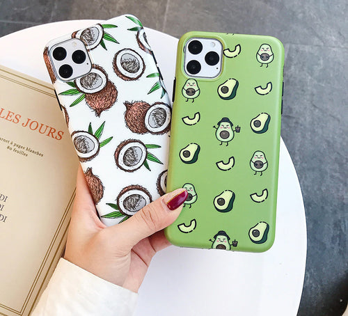 Coconut Avocado Printed Case For iPhone