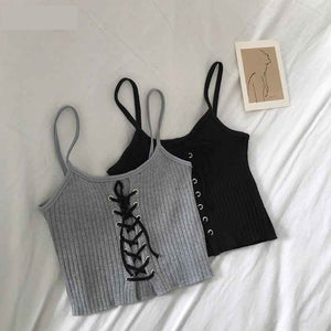 Sexy Knitting Halter Tank Tops