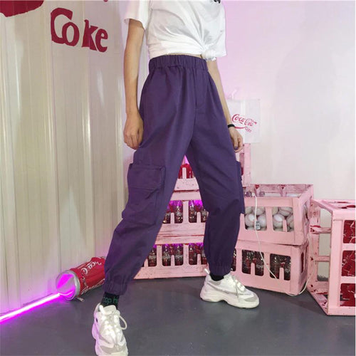 High Waist Pockets Jogger Pants