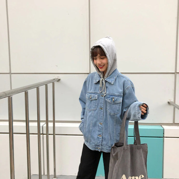 Denim Jacket Hooded Style