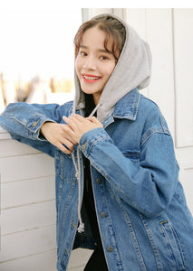 Denim Jacket Hood