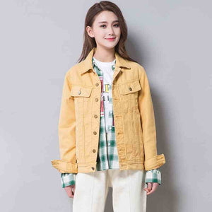 Yellow Jeans Jacket