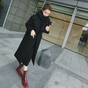 New Thicken Wool Long Coat
