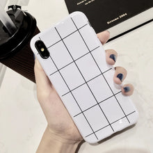 Glossy Plaid Style Case For iPhone
