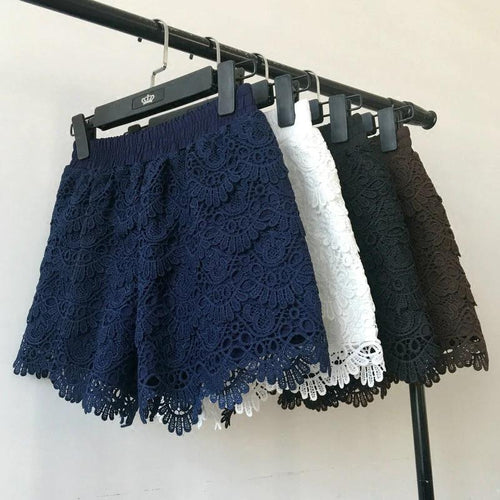 6 Colors Hollow Lace Sexy Shorts