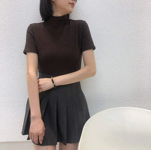 Slim Elegant Stretchy Turtleneck Shirt